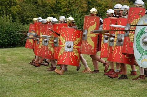 Marching Roman Army stock photo