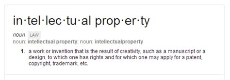 Legal Definition of Intellectual Property
