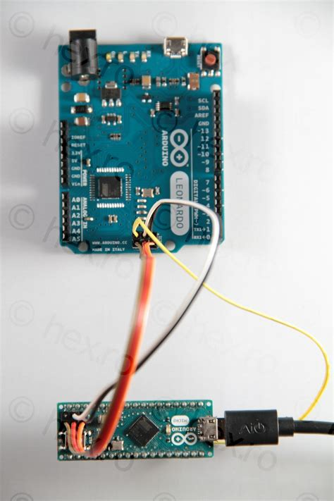 Arduino Micro as ISP (flashing the bootloader of an