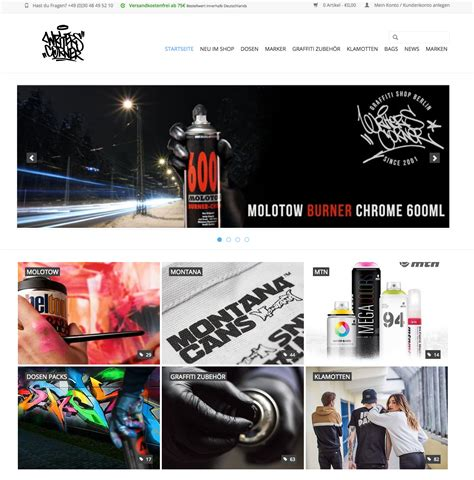 20 Places To Shop For Graffiti Tools Online in Europe And
