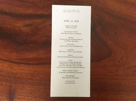 menu - Picture of Eleven Madison Park, New York City