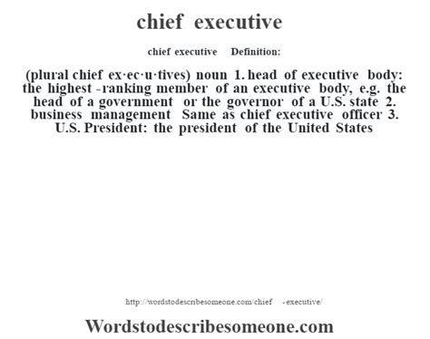 chief executive definition | chief executive meaning