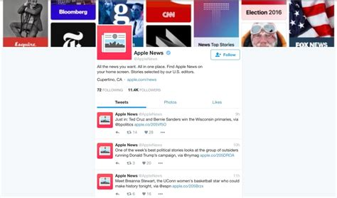 Apple News now has its own Twitter account