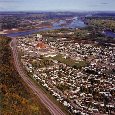 Fort McMurray and the Oil Sands   An aerial photograph of