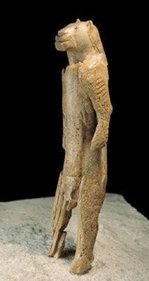 The Lion Man, reproduction of a prehistoric artwork