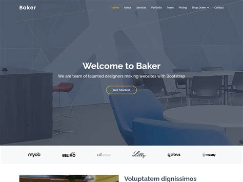 Baker - One Page Bootstrap Template   BootstrapMade