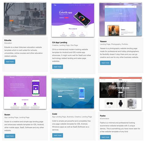 ONE PAGE BOOTSTRAP TEMPLATE FREE DOWNLOAD