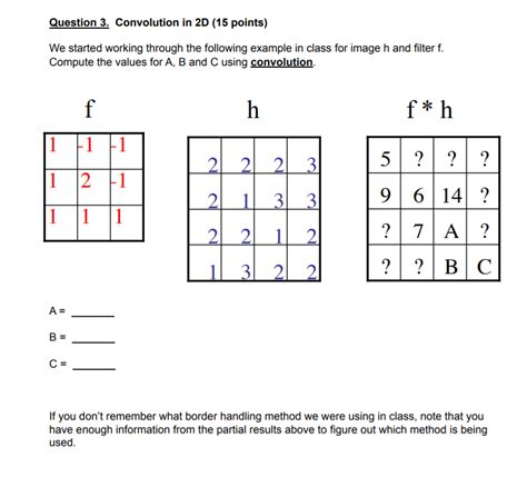 Solved: Convolution In 2D We Started Working Through The F