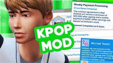 REALISTIC KPOP CAREER! (The Sims 4 Mods) - YouTube