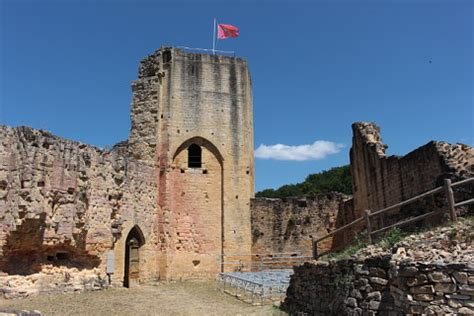 Carlux, France is a pretty village with a ruined castle in
