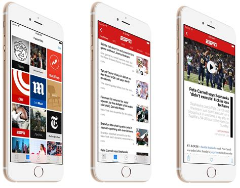 ESPN now available on Apple News with free iOS 9 update