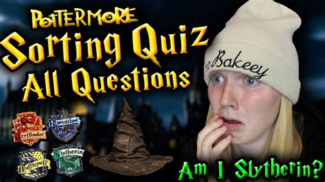 FULL POTTERMORE SORTING QUIZ (All Questions) - YouTube